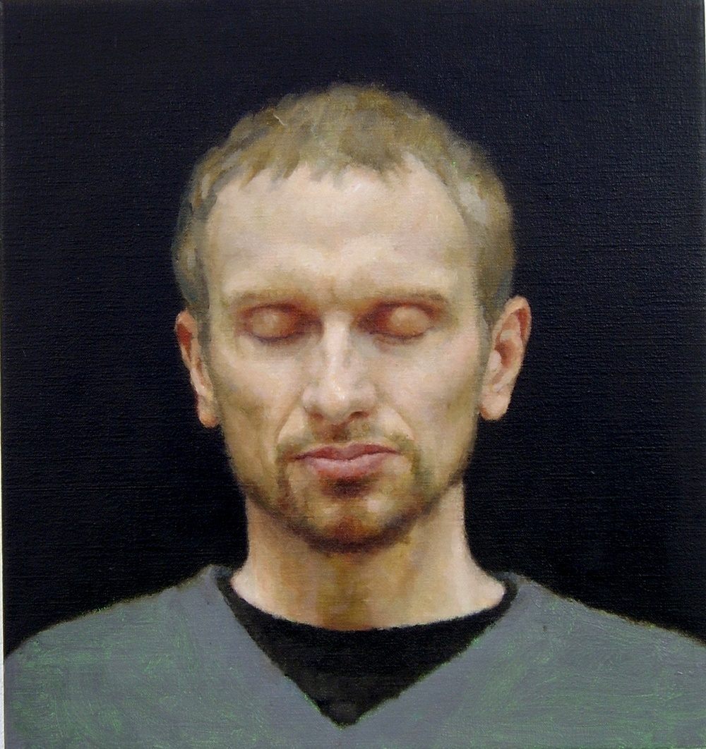Interior (Martin), 2004, Oil on linen, 400mm x 375mm.