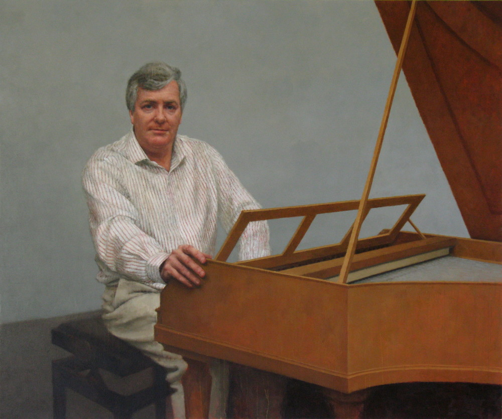 Portrait of Geoffrey Lancaster AM, 2011, Oil on linen, 1530mm x 183mm, National Portrait Gallery, Australia.