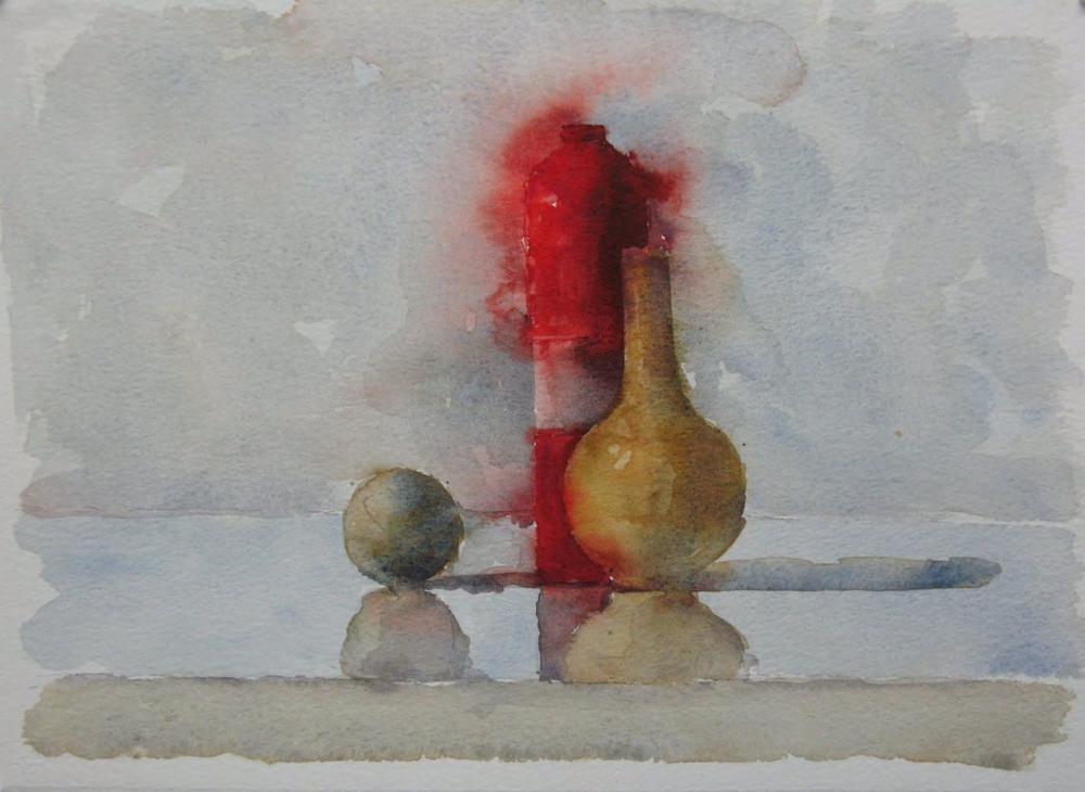 WCSL100, 2010, watercolour on paper, 38 x 29cm