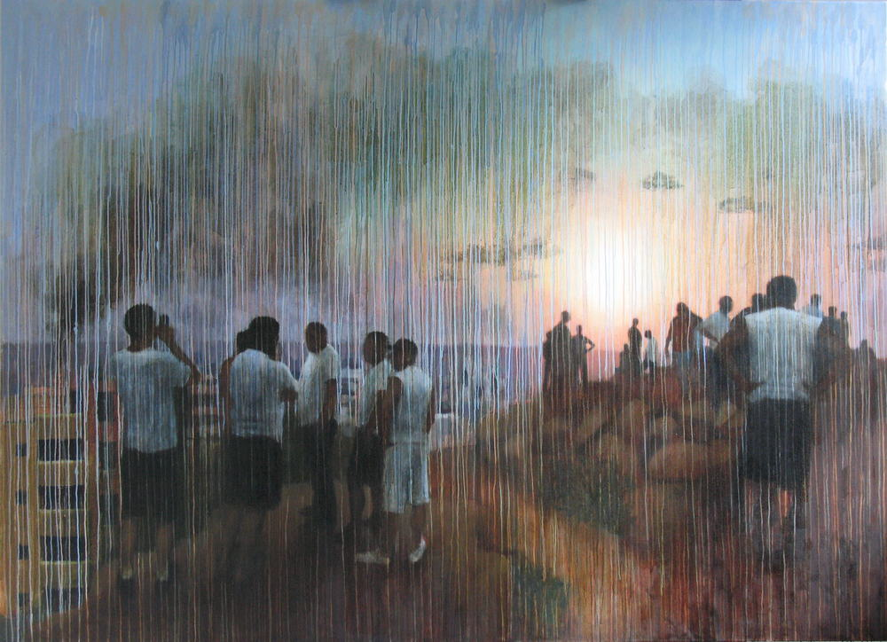 July War, 2006 (#246), 2009, oil on linen, 2700mm x 1950mm