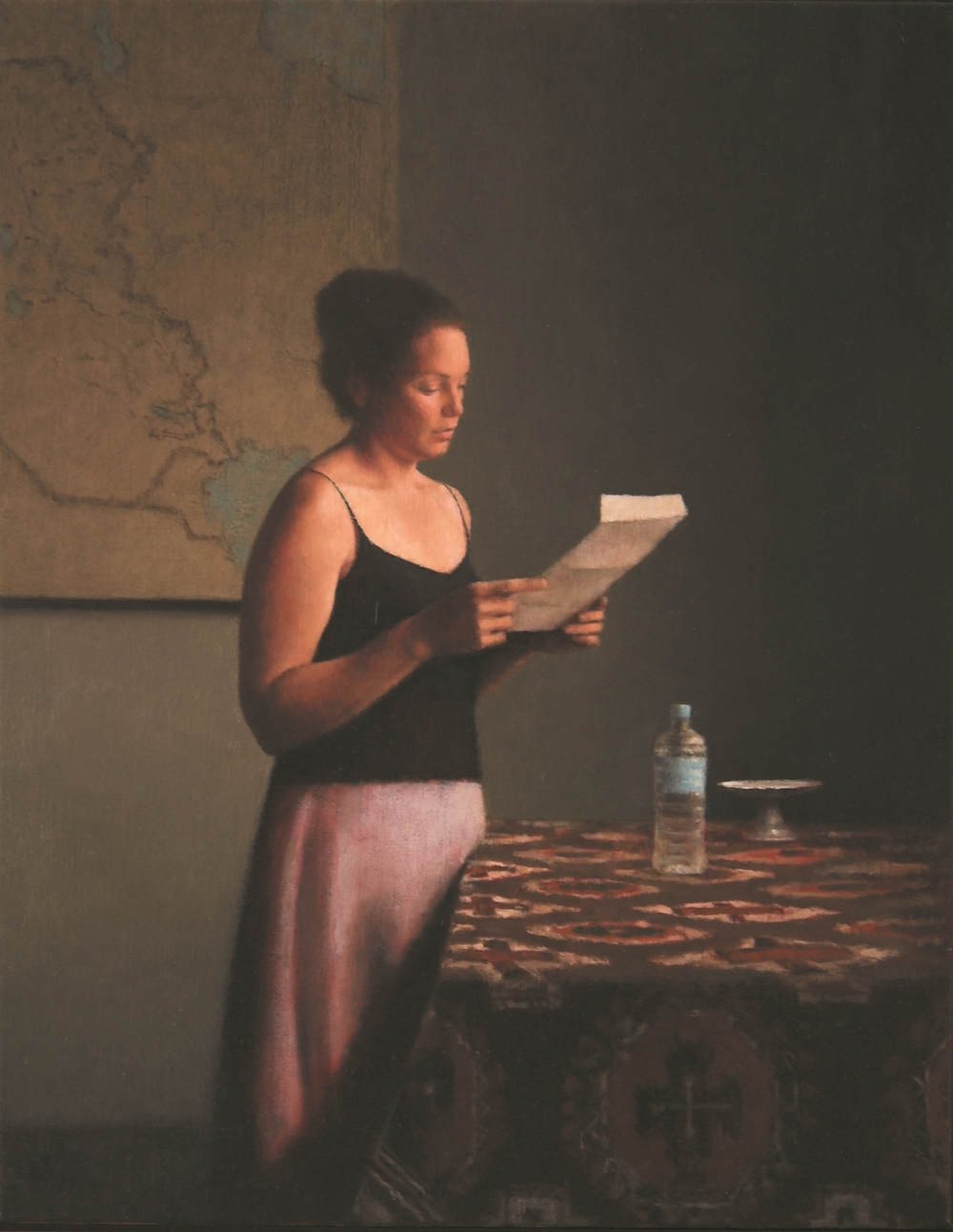 Interior 170 (Figure at a window), 2005, oil on linen, 570mm x 720mm.