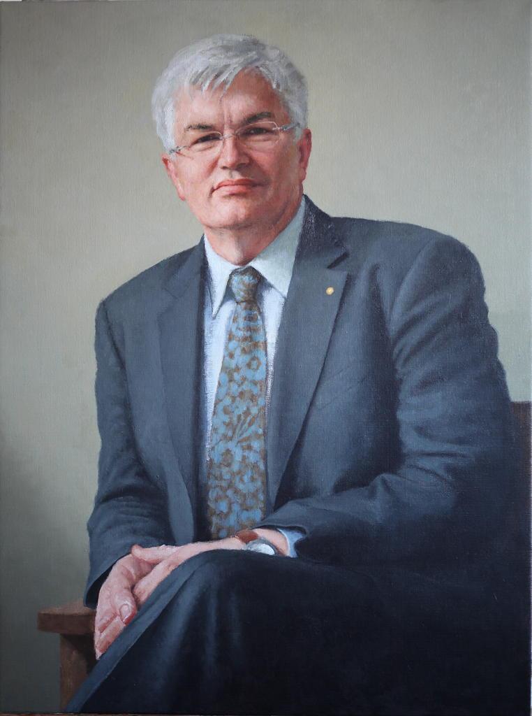 Dr Glyn Davis, 2012, Oil on Linen, 900mm x 1200mm.