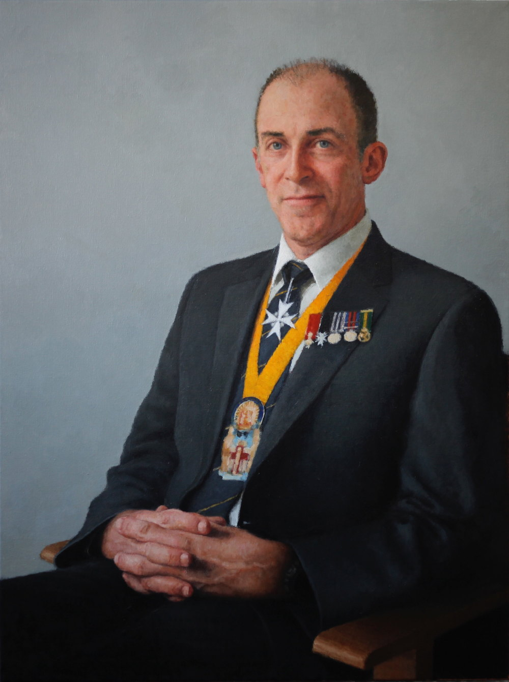 Dr Ian Civil, 2012, Oil on linen, 900mm x 1200mm