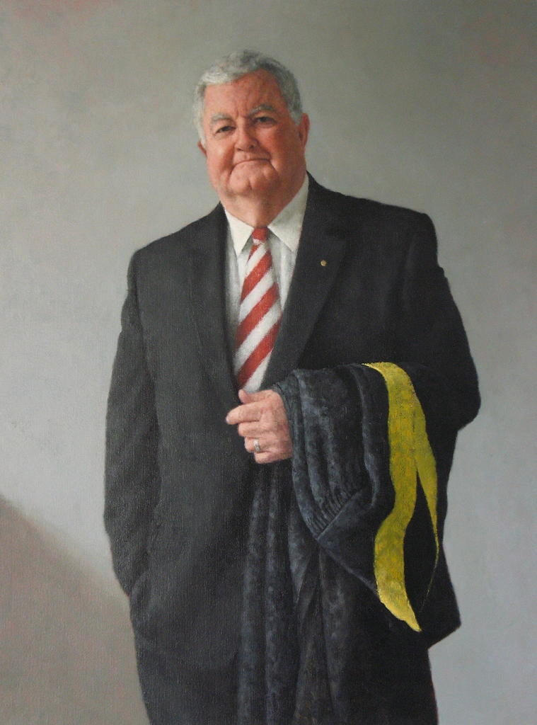 Dr Ian Chubb, 2011, Oil on linen, 900mm x 1200mm.