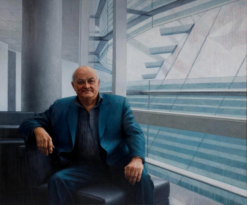 Mr Owen Glenn, 2009, oil on linen, 2350mm x 1800mm.