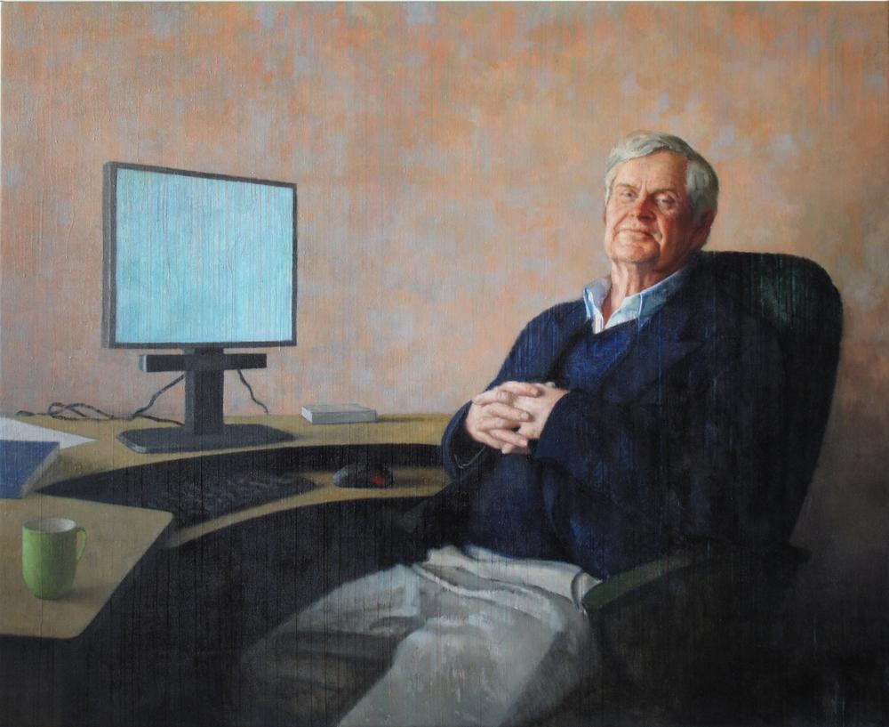 Portrait of Michael Horton, 2009, Oil on linen, Private Collection, Auckland NZ.