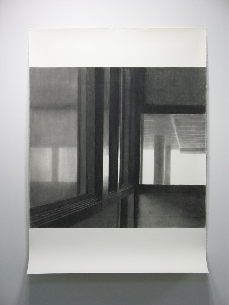Victoria Chambers VI (cutting room), 2006, charcoal on Fabriano 300gsm paper, 2000 x 1500mm