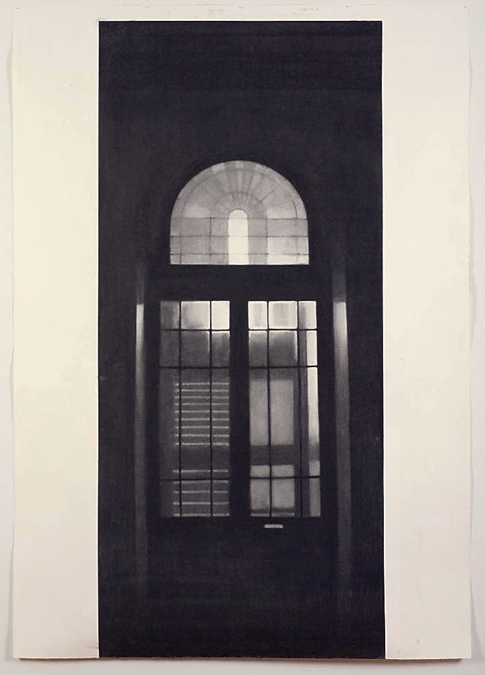 Victoria Chambers I (entrance), 2006, willow charcoal on Fabriano paper, 2000mm x 1400mm