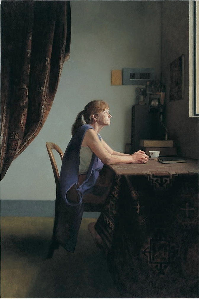 Large Interior 173 (Micky), 2005, oil on linen, 1800mm x 1200mm