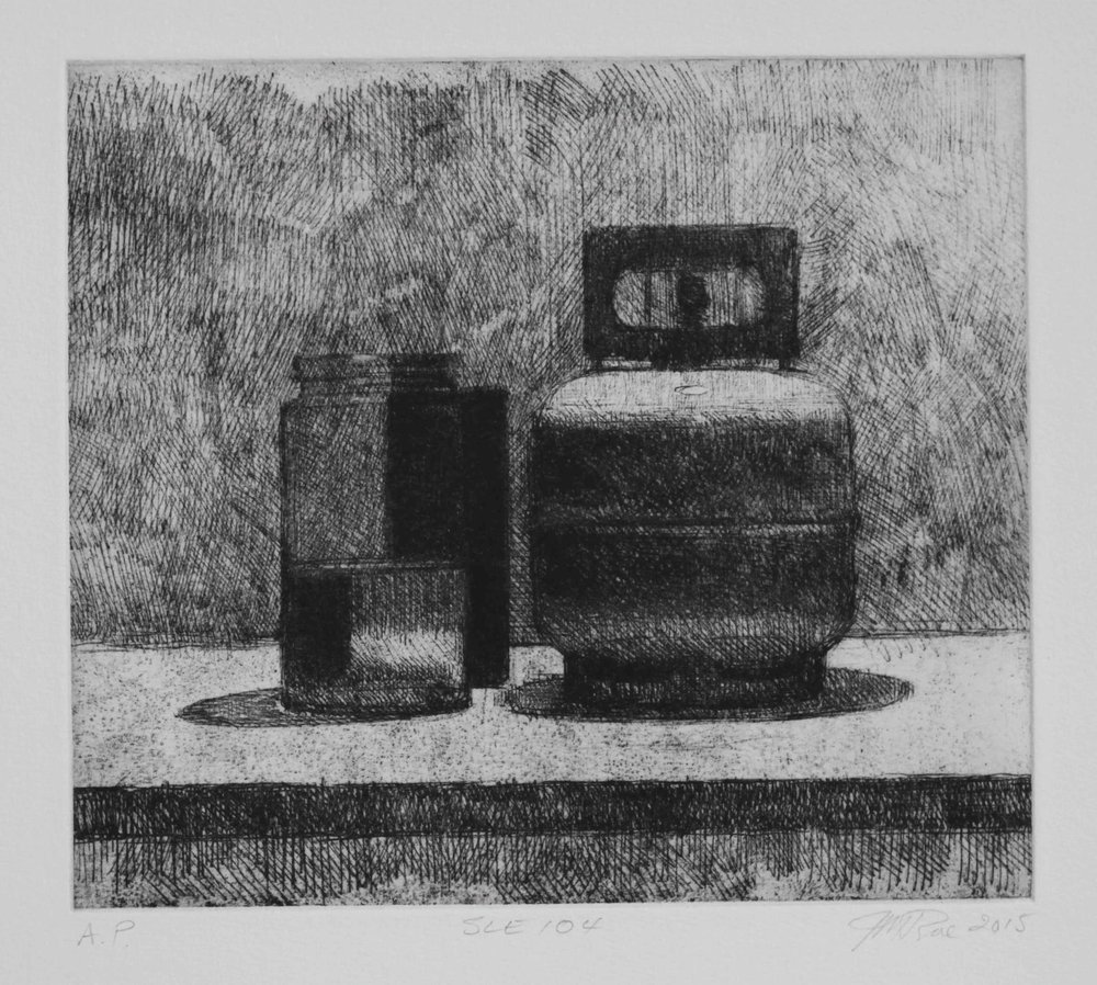 SLE104, 2015, soft ground etching with foul bite on Hahnemühle paper 615mmx 530 (plate 234mm x 208mm).