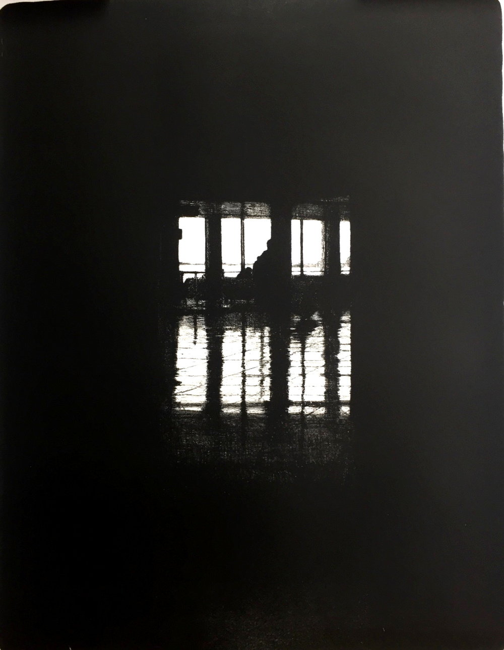 Departures I (JFK), 2016, lithograph, 55cm x 75cm
