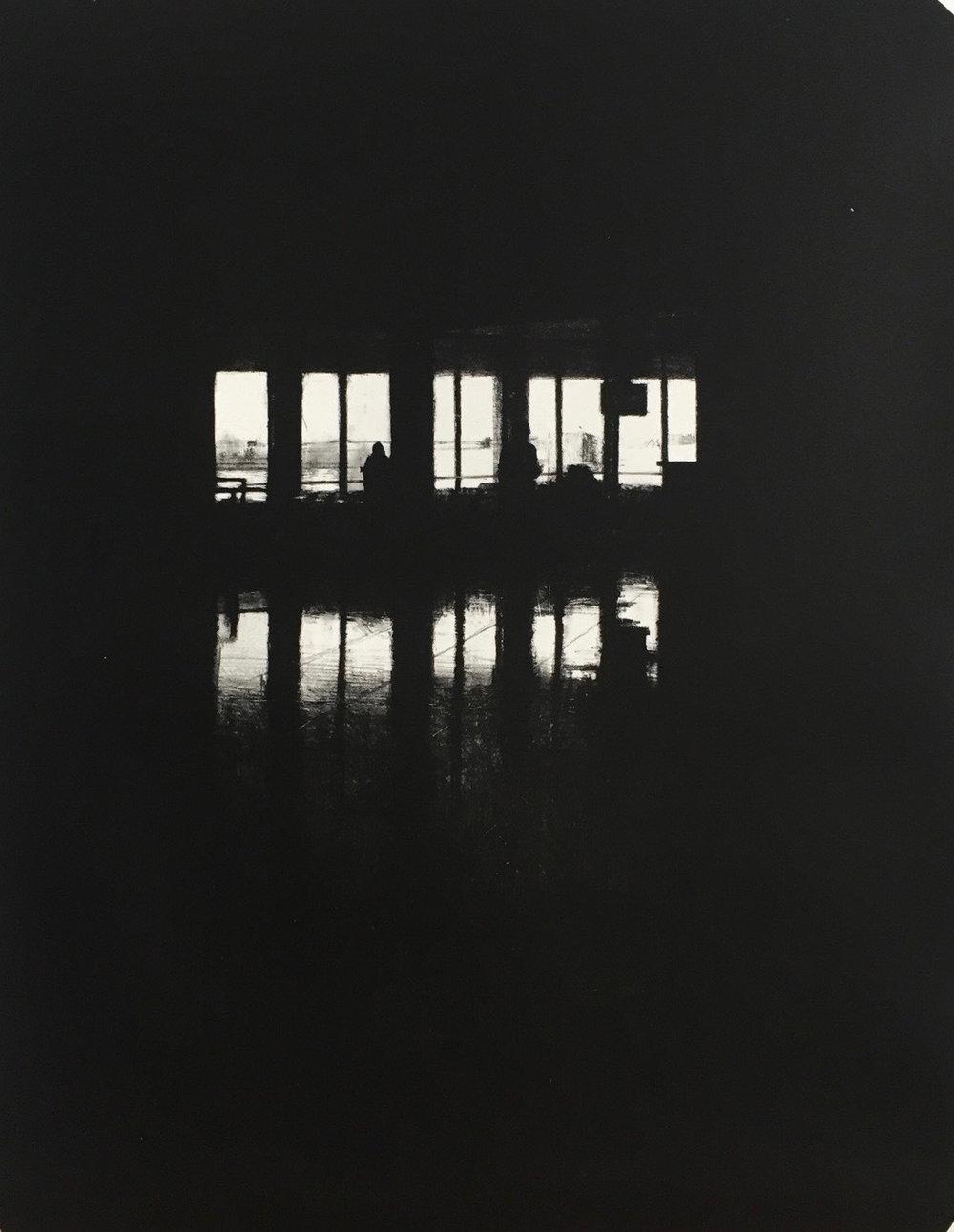 Departures II (JFK), 2016, lithograph, 55cm x 75cm