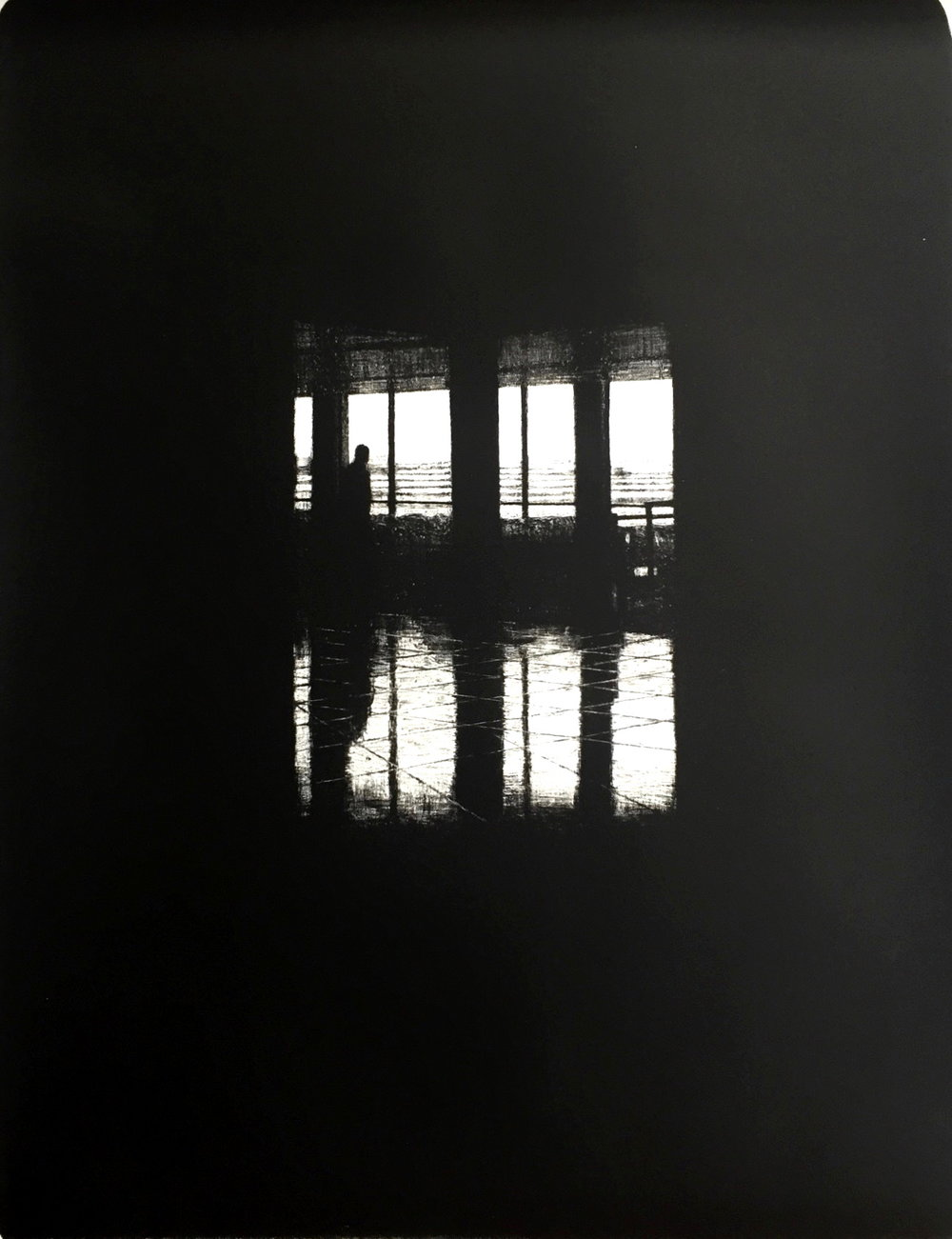 Departures III (JFK), 2016, lithograph, 55cm x 75cm