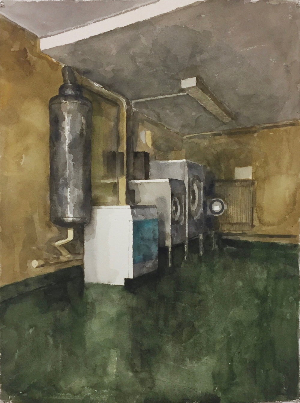 Laundry (Cité des Arts - study), 2016, watercolour on 640gsm Arches, 560mm x 750mm
