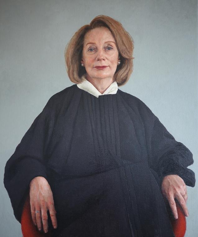 Chief Justice Susan Kiefel, 2018, Oil on linen, 120cm x 100cm