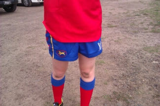 Roygirl knees after a footy match - takes my breath away - she loves it