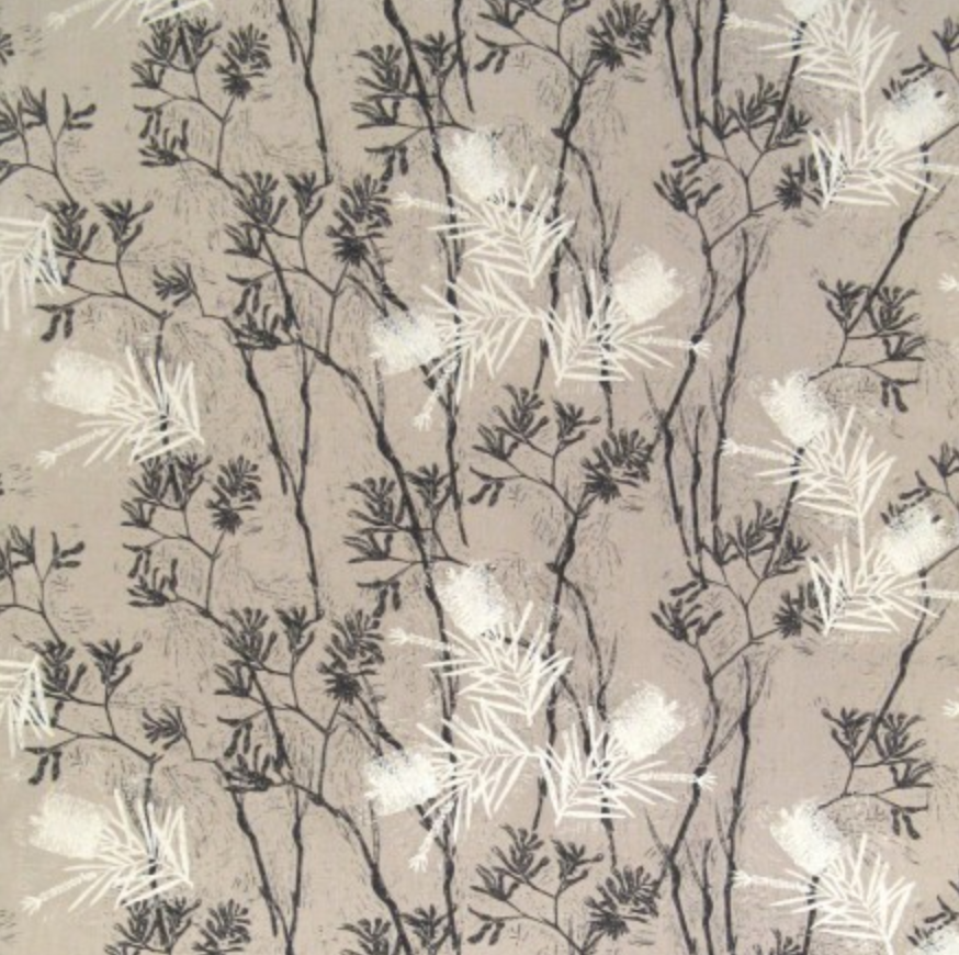Let's see a change and be inspired - Beautiful banksia and kangaroo paw textile print