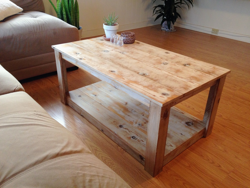 PICKLED COFFEE TABLE