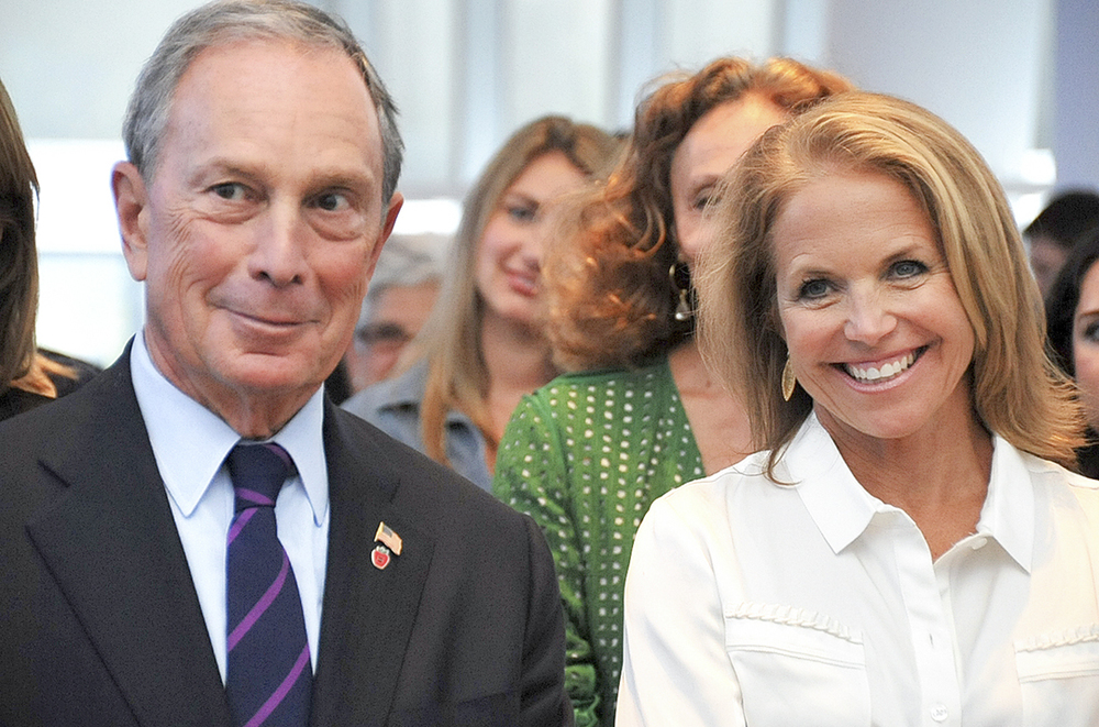 Michael Bloomberg and Katie Couric