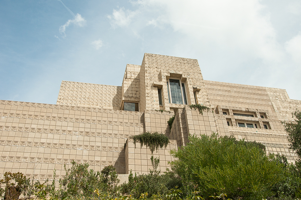 ...Frank Lloyd Wright's Ennis House...