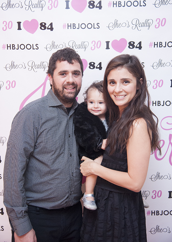 Chef Jon Shook and actress, Shiri Appleby, with their daughter