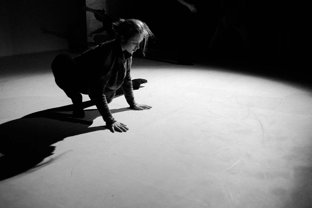 Claudia Germuga warms up, pre-show  Volume VI, Issue I, March 2016   Image: Corey Melton