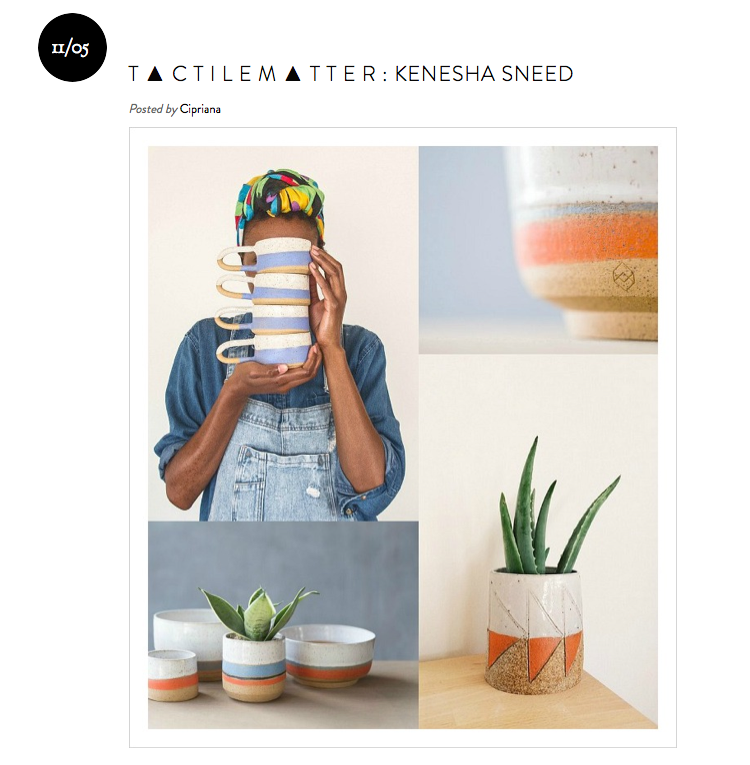 So over the moon to be featured on one of my favorite blogs Urban Bush Babes, where I talk about ceramics, illustration, style and more!