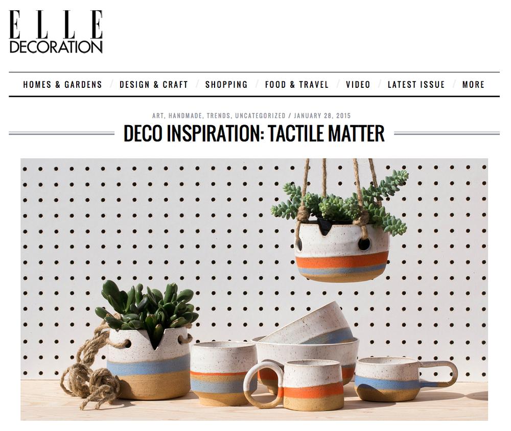 Tactile Matter -- Elle decoration