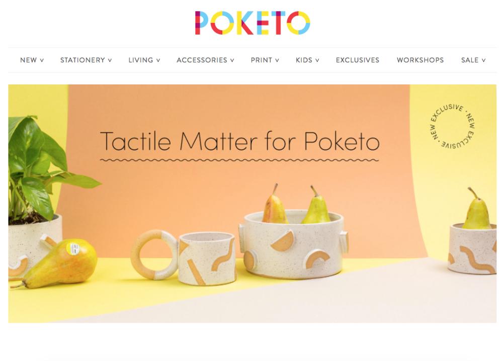 Tactile Matter X Poketo