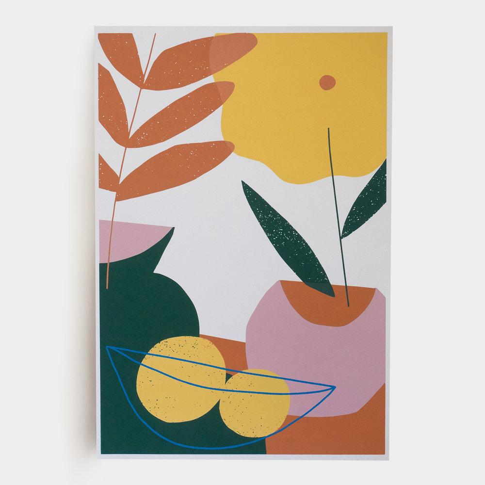 Citrus and Florals Print -