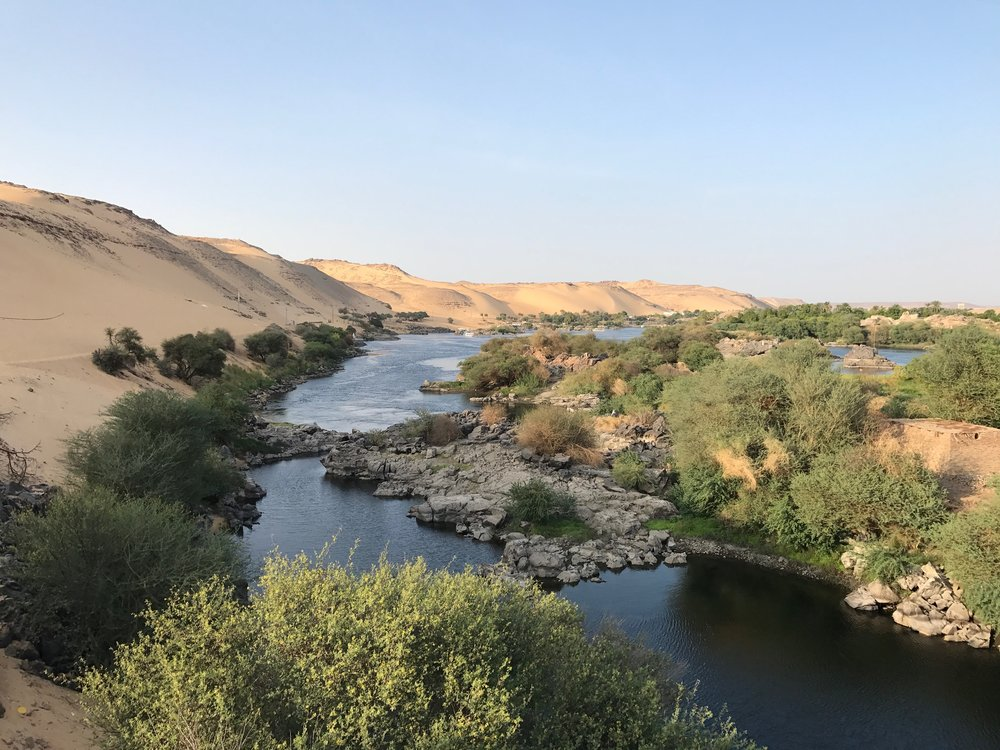 The beautiful Nile river in Aswan, Egypt- Nubia.