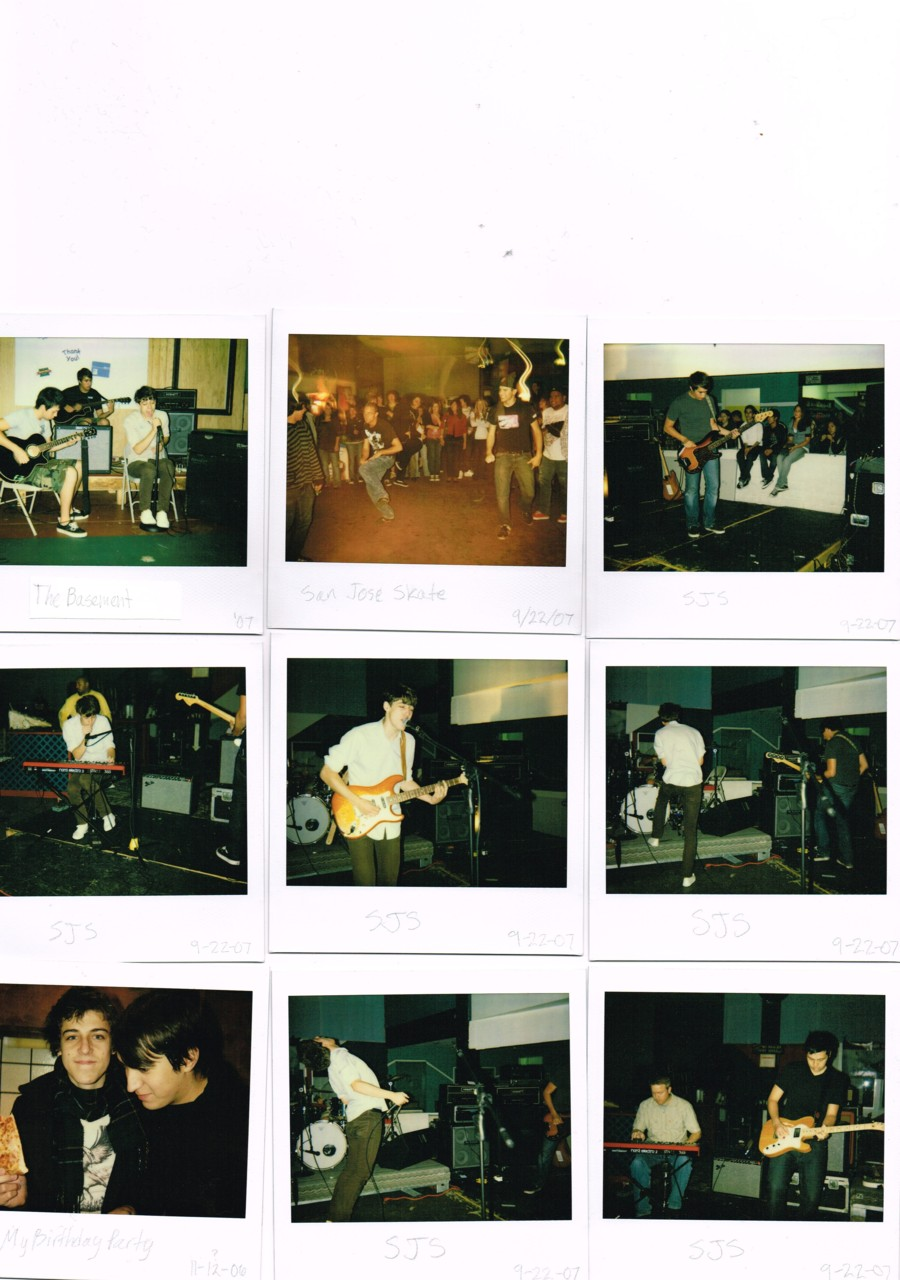 While going through old photos and magazines for future album art I found these treasures. Old Polaroids from 2007. enjoy.