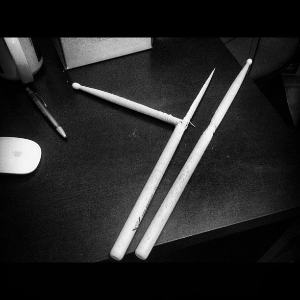 Drums are done. (Taken with  instagram )