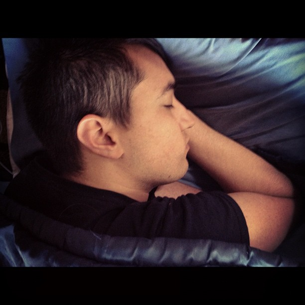 Creepy sleeping pics, Ryan B, from this morning (Taken with  instagram )