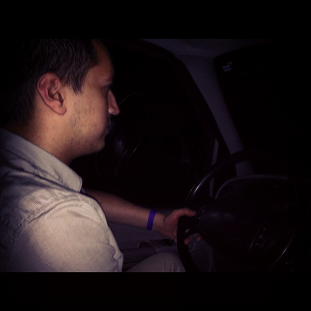 Ryan driving us back to the Yay area, with your boy Chuwy Gomez, on Wild 949 (Taken with  instagram )