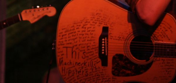 Sometimes I forget my guitar was completely covered by writing at one point. Good times. Maybe I'll bring that back. Or maybe I find someone who is actually talented who can draw some wild images on my guitar. Any takers? Well, actually, the reason for this post is to say a big happy Mothers Day to all you Moms out there. Without you, we'd all be utterly lost (and also non-existant), so from the bottom of our hearts, a big thank you thank you thank you. -Picture Atlantic