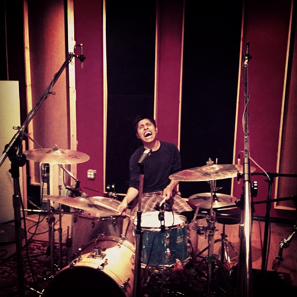 Drum tracking, how it's done (Taken with instagram)