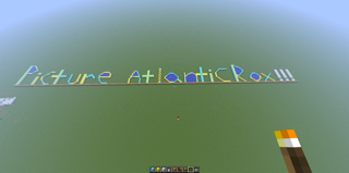 We in Picture Atlantic love our Minecraft. We play quite a bit. So we were very blessed to get this from the fantabulous Jack Finnegan, who tirelessly built this amazing giant sign, block by block. Thank you Jack :)