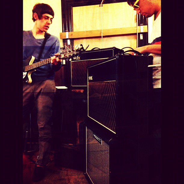 Working hard, recording is coming up! (Taken with  instagram )