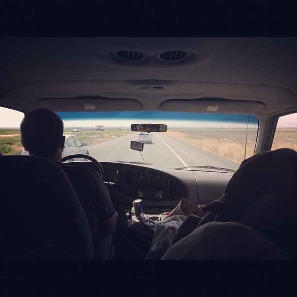 San Diego here we come! Zen came along to help out with the driving! (Taken with Instagram)