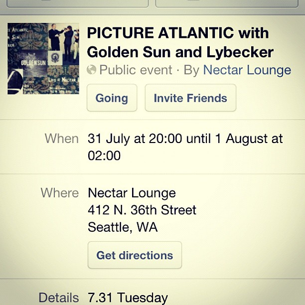 There is an event page for Seattle show at Nectar Lounge people! (Taken with Instagram)
