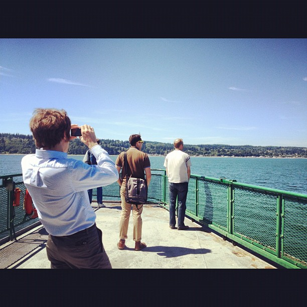 Just us being tourist, but it's pretty awesome (Taken with Instagram at Clinton Ferry Terminal)
