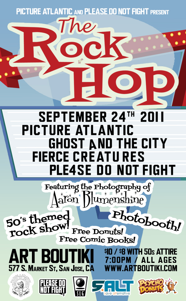 Can't tell you how excited I am for this. 50's themed show. Great bands. Dancing. Photobooth. Donuts. It's on. Please Reblog