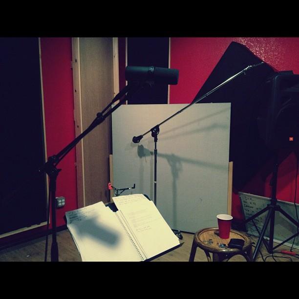Vocals today! (Taken with  Instagram )