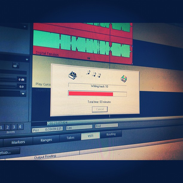 Mixdown!  (Taken with  Instagram )