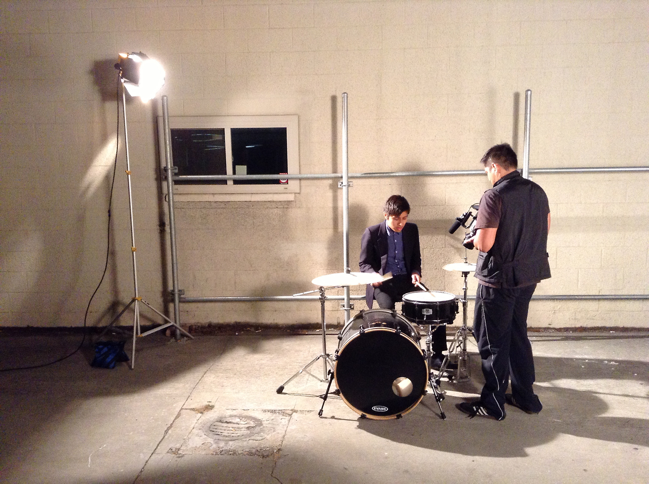 Daniel and Paul -  White Knight  music video shoot. -RB