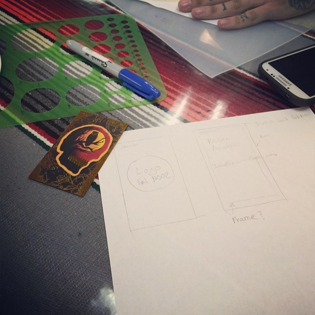 Designing our new business cards with the man @m_montoya