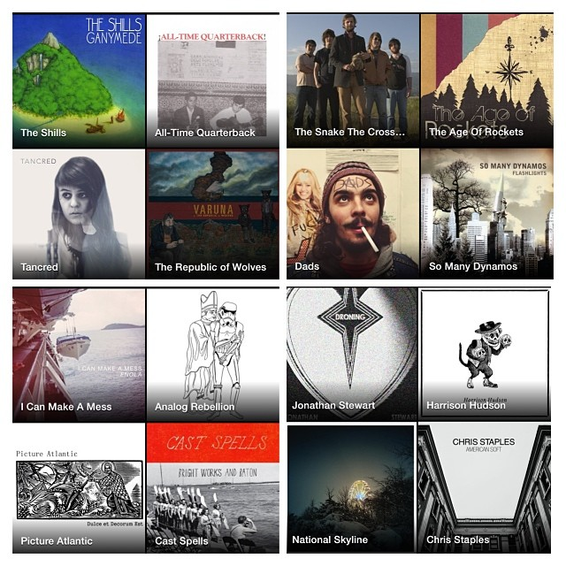 """ofusgiants :     According to #spotify, we have a pretty awesome list of """"related artists"""" - #tancred #therepublicofwolves #icanmakeamess #alltimequarterback #dads #pictureatlantic #harrisonhudson"""