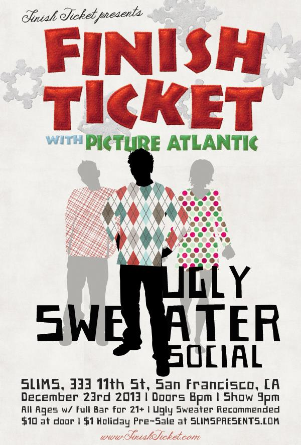 indininajones: So super stoked for this showwwww!  It's been too long since I've seen my boys, and it's been ages since I last saw Picture Atlantic perform live. Two of my favorite bands, one night, ugly sweaters — what more could a person ask for? Fo mo info, click here: https://www.facebook.com/events/669044143129289/ Hope to see errybody there!