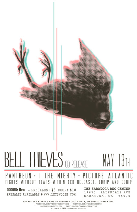 This month we had the chance to play with some great bands. Amongst those bands were Bell Thieves, who are having their EP Release on May 13th. The line up is really killer. Great local acts. Be there or be square!